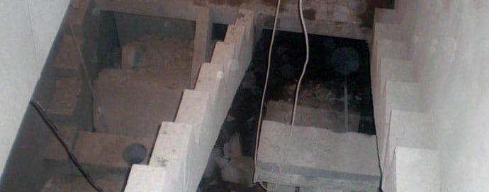 Демонтаж лестниц